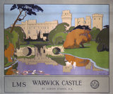 'Warwick Castle', LMS poster, 1924.