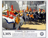 'London - The Horse Guards', LMS poster, 1923-1947.