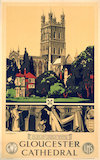 'Gloucester Cathedral', GWR/LMS poster, 1923-1947.