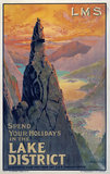 'Spend your Holidays in the Lake District', LMS poster, 1923-1947.