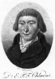 Ernst Florens Friedrich Chladni, German physicist, 1802.