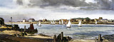 Felixstowe Ferry, Suffolk, BR (ER) carriage print, c 1950s.