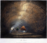 'The Tunnel', Liverpool & Manchester Railway, 1831.