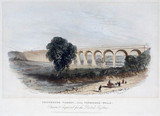 Colesbrook Viaduct, near Tunbridge Wells, Kent, c 1845.