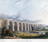 Viaduct acros the Sankey Valley, Warrington, Cheshire, February 1831.