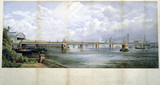 The Charing Cros Bridge, London, c 1860.