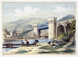 'Gawksholme Viaduct and Bridge', West Yorkshire, 1845.