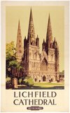 'Lichfield Cathedral', BR poster, 1948.
