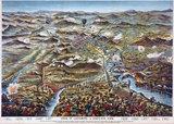 'Siege of Ladysmith - a Bird's-Eye View', 1900.