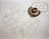 Figure wheel and drawing by Charles Babbage, 19th century.