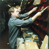 Sorting mail on the TPO, 1987, Newcastle to