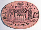 Rubber mat depicting the Crystal Palace, 1951.