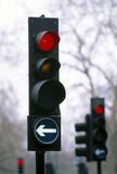 Traffic lights, London, 1997.