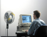 Man using a computer, 1997.
