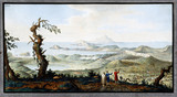 A view from the Convent of the Camaldoli, near Naples, Kingdom of Naples, c 1760.