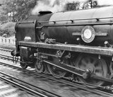 Merchant Navy clas 4-6-2 No 35011 steam locomotive, 14 September 1964.