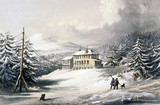 Telegraph House, Trinity Bay, Newfoundland, Canada, 1857-1858.
