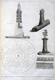 Preliminary sketches of Smeaton's Eddystone lighthouse, c 1756.