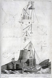 Building in progress at Smeaton's Eddystone lighthouse, c 1758.
