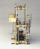 Clock movement from Shelton's regulator clock, 1768-1769.
