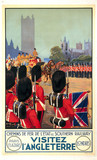 Visitez l'Angleterre, Chemins de Fer de l'Etat and SR poster, 1932.