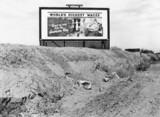 Billboard on Highway 99, California, sponso