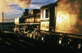 Steam locomotive at Rio Gallegos, Patagonia, Argentina, 1977.