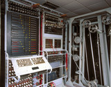 Re-creation of 'Colosus' code-breaking computer, Bletchley Park, 1997.