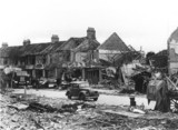Bomb damage, Mitcham, Surrey, Second World War, 20 September 1944.