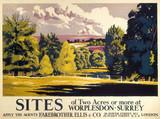 Worplesdon, poster, 1936.