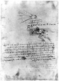 'Webbed glove for swimming in the sea', by Leonardo da Vinci, late 15th century.