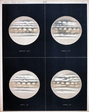 Four views of Jupiter, plate 2, 1872.