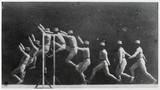 Marey's chronophotographs of a man doing a high jump, 1892.