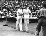 Tennis players Donald Budge and Von Cramm, 1935.