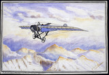 Morane-Saulnier monoplane crossing the Alps, c 1912.