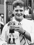 Paul Gascoigne, English football player, August 1987.