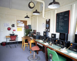 Re-creation of radio intercept room with HRO receivers, Bletchley Park, 1997.