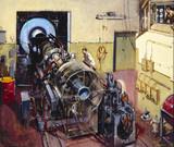 De Havilland jet engine on test, November 1954.