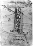 Design for a flying machine, by Leonardo da Vinci, late 15th century.