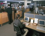 Imperial College and Science Museum library, March 1999.