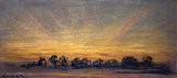 Sunset showing amber afterglow with rays, 11 September 1886.