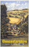 'Gloucestershire', BR poster, c 1960.