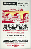 Motorists... Avoid Road Congestion and Travel Fatigue', BR (WR) poster, 1957.