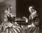 The Misses Lutwidge playing chess, c 1858.