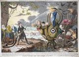 'A Patriot Luminary Extinguishing Noxious Gas', 1817.