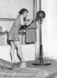Fitnes and workout costume at the Ideal Home Exhibition, 7 April 1931.