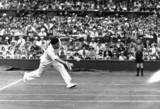 Jean Borotra playing at Wimbledon, July 1931.