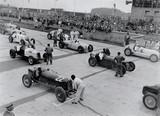 Racing cars at Nurburgring racetrack, 1934.