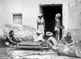 Cutting indigo into cakes, Allahabad, India, 1877.