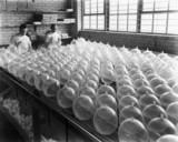 Testing condoms, c 1930s.